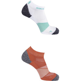 Salomon Speed Socks 2 pack, hibiscus/white